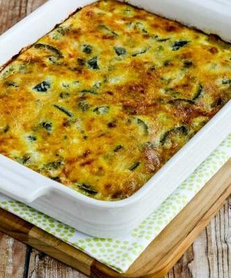 Cheesy Low-Carb Zucchini and Basil Strata