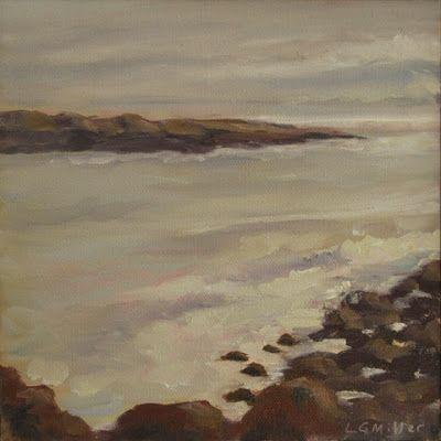 """""""Rockport Morning"""" - 8 x 8 inches - oil on canvas"""