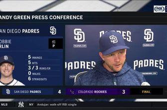 Andy Green talks about Robbie Erlin, Eric Hosmer after 4-3 win