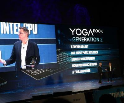 Lenovo unveils a new dual-screen, keyboard-less Yoga Book