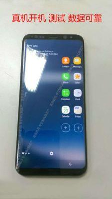 Galaxy S8 gets pictured with display on; new button design leaks, too