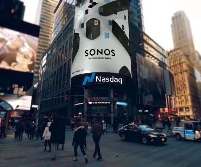 Sonos redesigned the Nasdaq opening bell to mark IPO