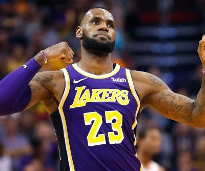 Lakers pick up their first victory with LeBron James