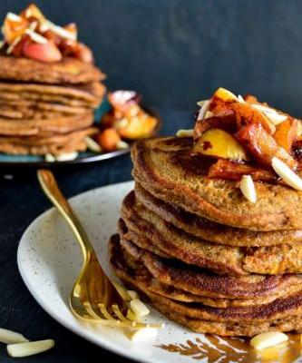 Apple Pie-Spiced Pancakes
