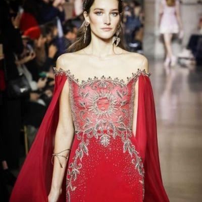 Josephine le Tutour rocked the GEORGES HOBEIKA Spring summer