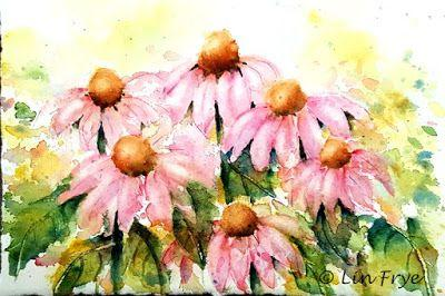 Journal - Purple Cone Flowers - Lin Frye - North Carolina
