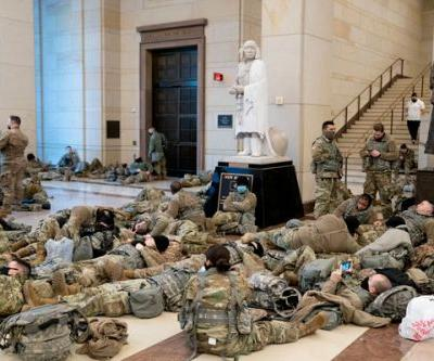 Look At Our Exhausted Military Guarding The Capitol