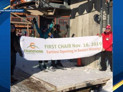 New England ski resort celebrates its earliest opening on record