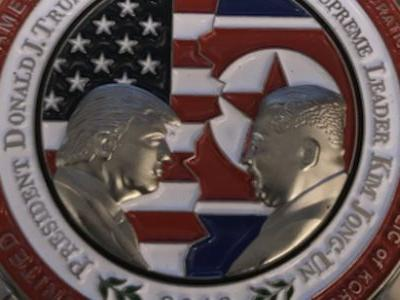 The White House made a coin for Trump's meeting with Kim Jong Un, and lots of people noticed the number of chins on the North Korean leader