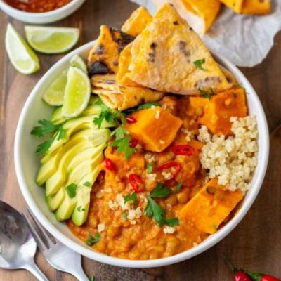 Instant pot sweet potato curry