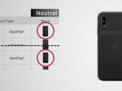 IPhone XS Smart Battery Case pictured in 'fall 2018' documentation for Apple resellers