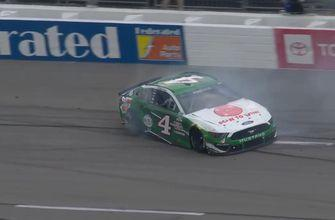 Kevin Harvick hits the wall HARD after losing a tire at Richmond