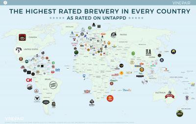 MAP: The Highest Rated Brewery In Every Country