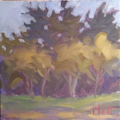 Golden Autumn Landscape 8x8