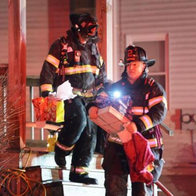 Firefighters salvage Christmas gifts from house fire