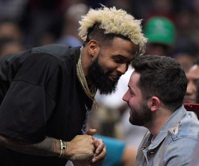 Baker Mayfield doesn't need a word to celebrate Odell Beckham trade