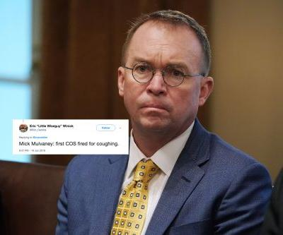 These Tweets About Mick Mulvaney Coughing During Donald Trump's Interview Have Twitter's Attention