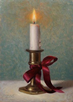 """""""An Eternal Light"""". Oil on board 7x5 inches"""