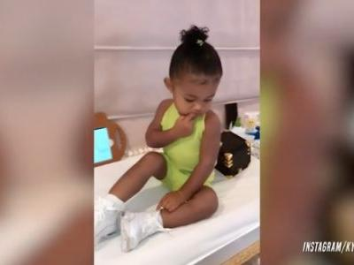 Kylie Jenner's Baby Girl Stormi Webster Loves Her Custom Hair Accessories - Watch the Cute Clip!