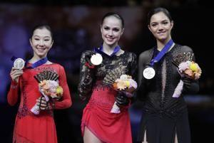 Zagitova wins at worlds, Tursynbaeva lands 1st quad jump