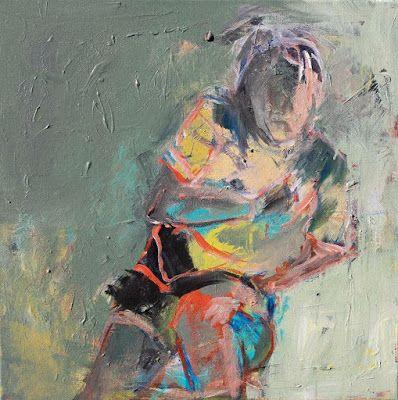 """Abstract Female Figurative Painting, """"POETRY IN MOTION"""" by Oklahoma Artist Nancy Junkin"""