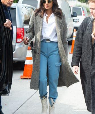 Priyanka Chopra Paired Cargo Pants with Cowboy Boots-and Somehow, It Worked