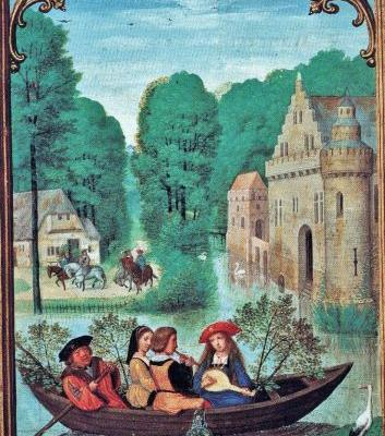 16C SPRING Boating Parties - Making Music & Gathering Newly Green Branches