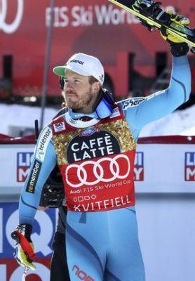 Jansrud wins men's downhill to close in on title