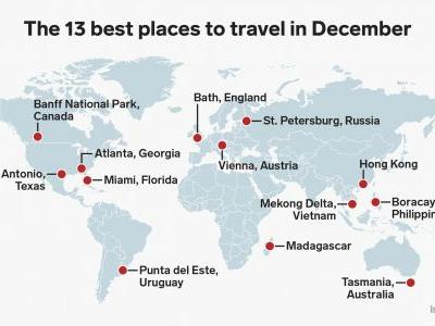 13 places to visit in December for every type of traveler