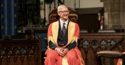 Tim Cook talks legacy of Steve Jobs, Apple Pencil, and immigration at University of Glasgow