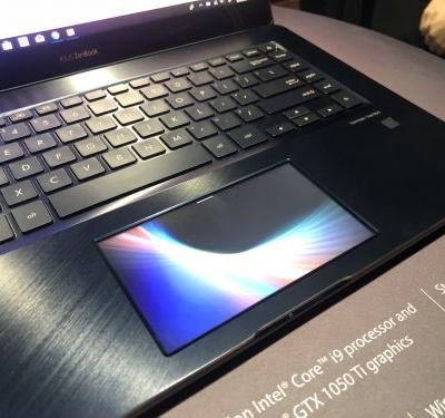 ASUS' new ZenBook Pro features a 5.5-inch touchscreen instead of a touchpad