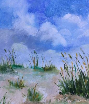 "Contemporary Beach and Ocean, ""Sand Dunes 2,"" by Amy Whitehouse"