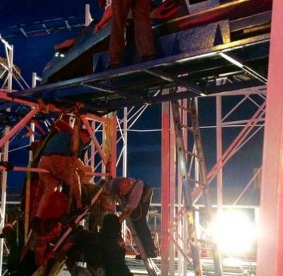 6 riders transported after 9 rescued from derailed roller coaster on boardwalk in Florida