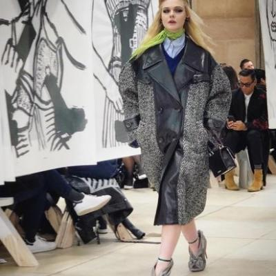 Elle Fanning just opened the Miu Miu show