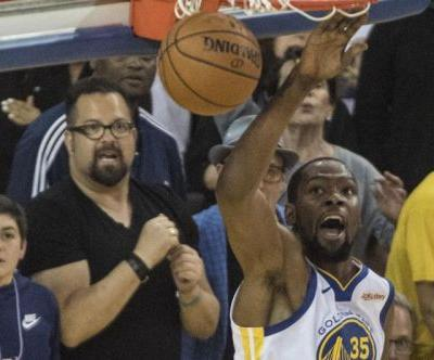Golden State Warriors' Kevin Durant ruled out for next three games of Blazers series