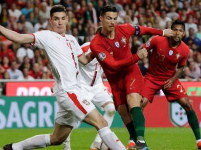 Portugal held by Serbia as Ronaldo limps off early with leg injury