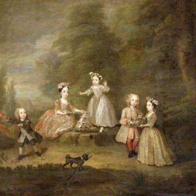 Art as Personal Branding in 18C England - Garden Conversation Pieces by William Hogarth (1697-1764)