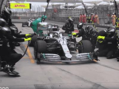 Kneel Before Mercedes' F1 Double Pit Stop Prowess