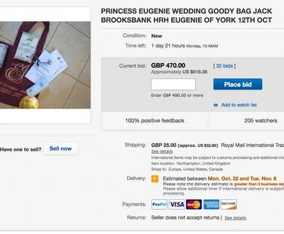 Here's Where To Buy This Princess Eugenie Wedding Gift Bag To Feel Like A Royal