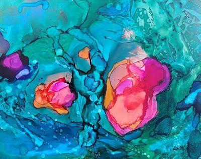 """Mixed Media, Contemporary Art, Expressionism, Abstract Painting, """"My Beautiful Heart"""" by Cynthia Berg"""