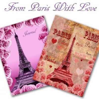 Bestselling Watercolor Cover Journals with Eiffel Tower