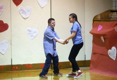 Marketing students with big hearts host Valentine's Day dance for special education students
