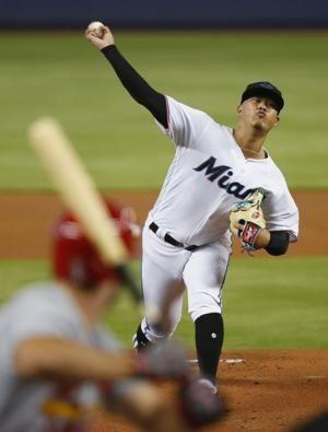 Yamamoto dazzles in debut as Marlins beat Cardinals 9-0