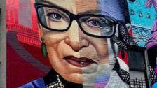 Ruth Bader Ginsburg Immortalized In Gigantic Street Art Mural