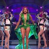 After 18 Years, Jennifer Lopez Still Owns the SNL Stage in Her Versace Jungle Dress