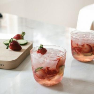 Let This Cucumber Strawberry Cooler Put a Spring In Your Step