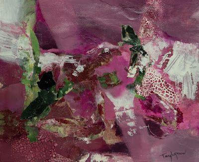 """Mixed Media Abstract Painting, Contemporary Art, Expressionism, """"Happy Jack"""" by Contemporary Artist Tracy Lupanow"""