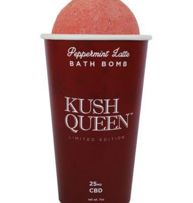 Kush Queen's CBD-Infused Peppermint Latte Bath Bombs Are Here For Holiday Relaxation