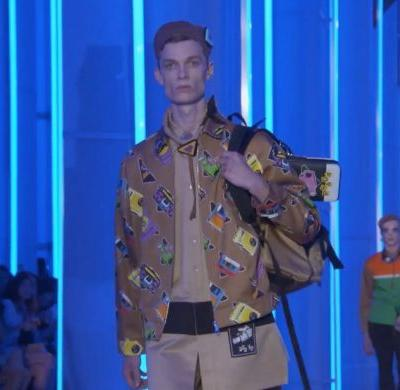 Prada menswear goes analogue with cassettes and camera prints