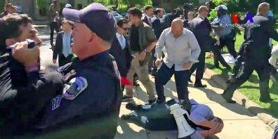 Protest outside the Turkish embassy in Washington turns bloody after Trump meets with Turkey's president